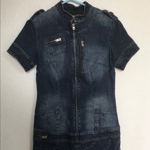 """Bebe Jeans"" young women's denim dress. Medium."